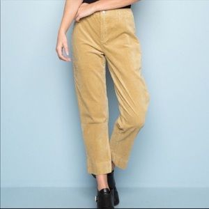 Brandy Melville Autumn corduroy cropped pants